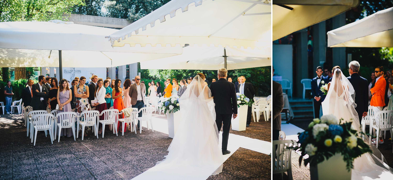 matrimonio religioso all'aperto a forte dei marmi Bagno Costanza