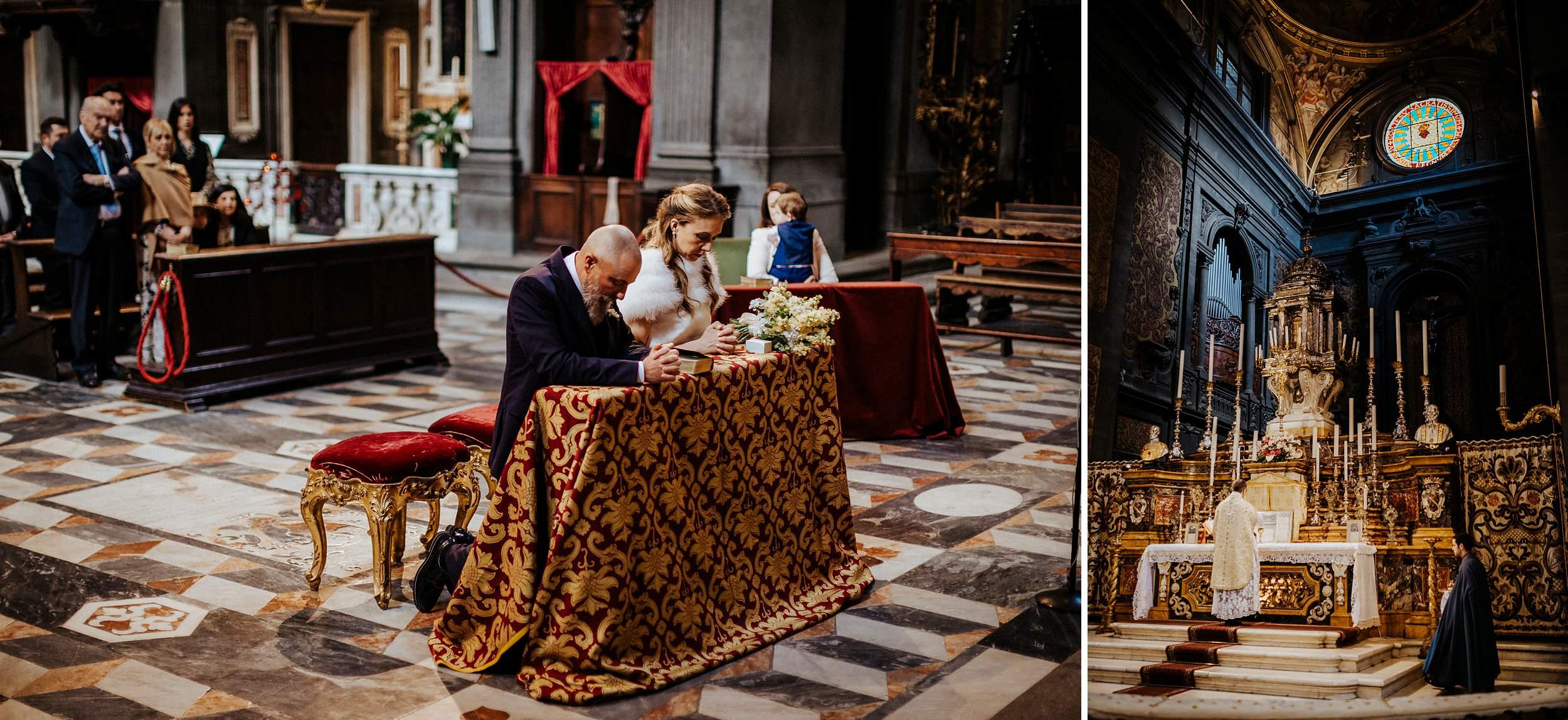 matrimonio intimo a firenze, chiesa di san michele, rito romano antico