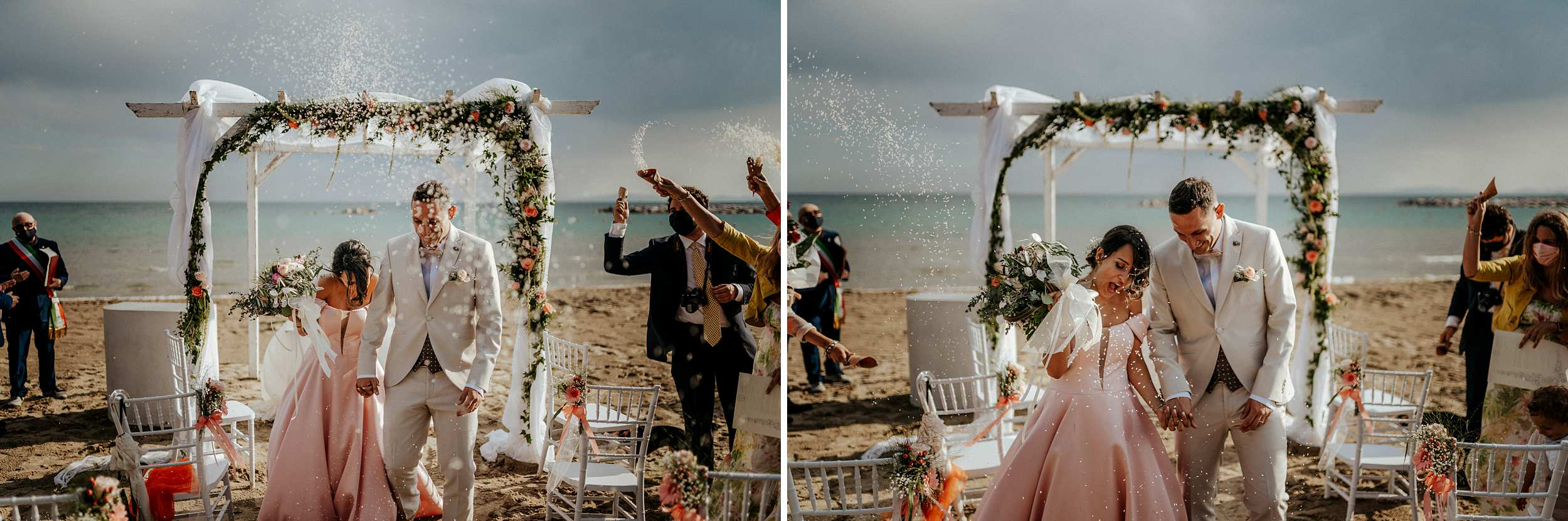 matrimonio intimo in spiaggia, follonica, il boschetto