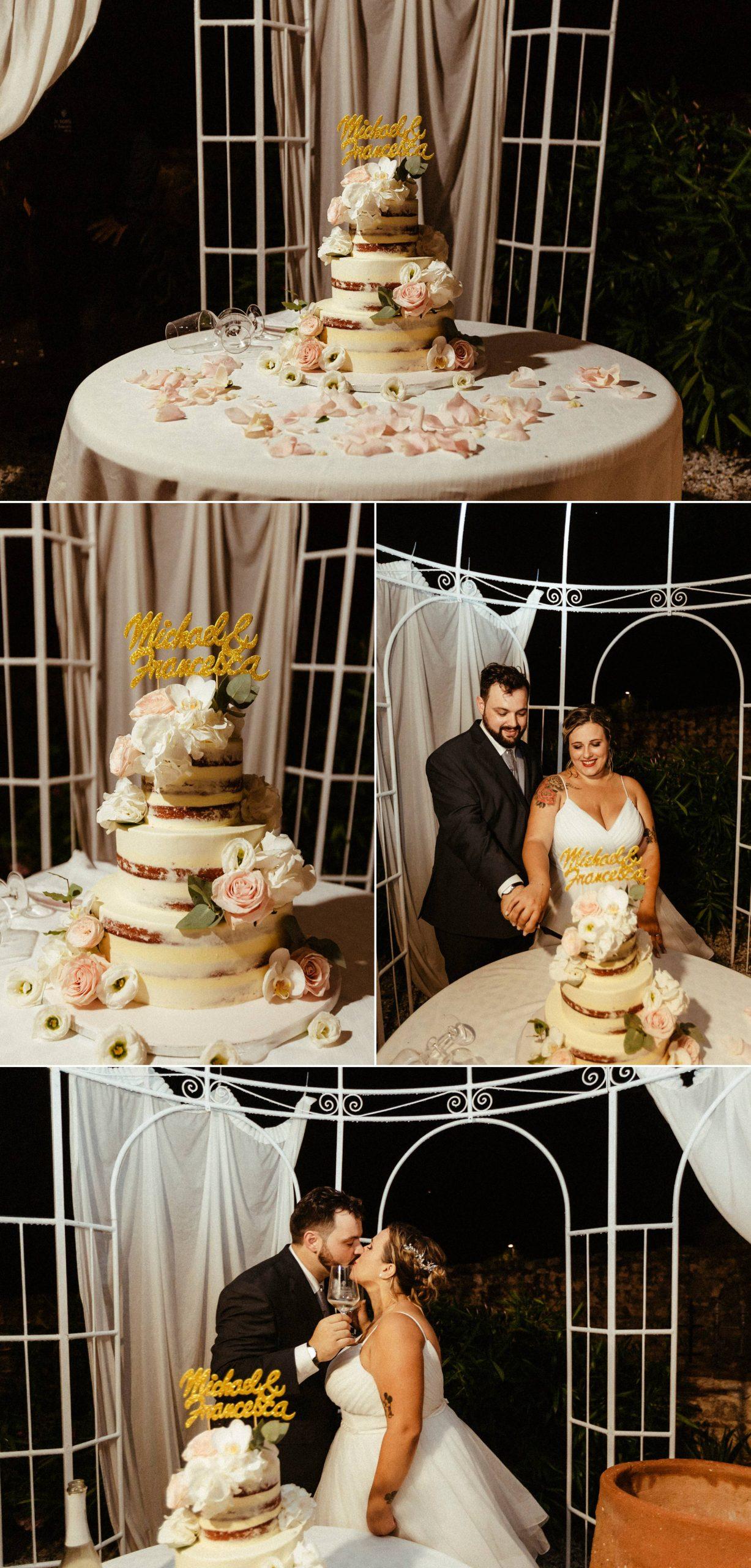 torta nuziale matrimonio rustico a la sosta in toscana lucca